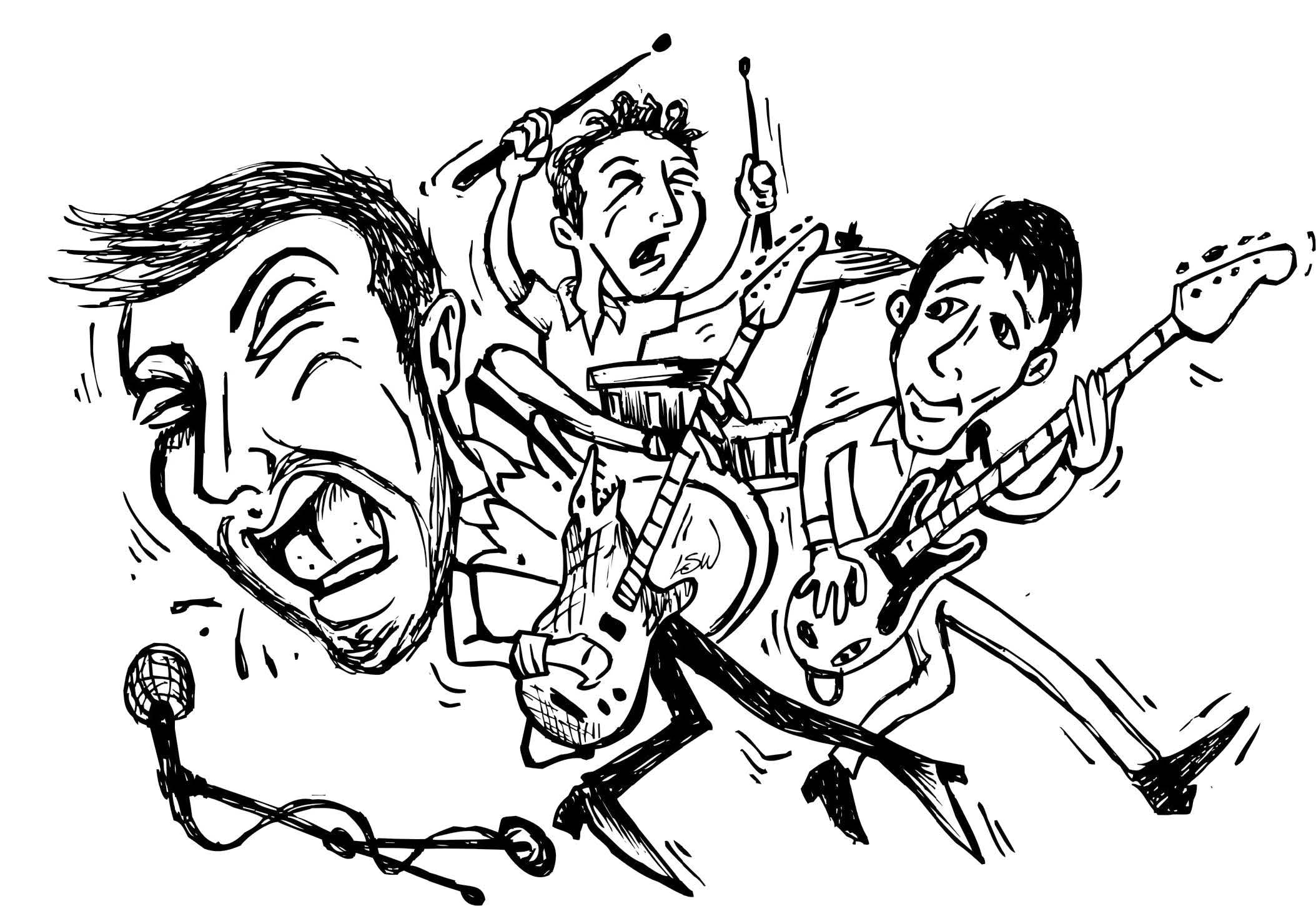 Dash Rip Rock -- Illustratoin by L. Steve Williams